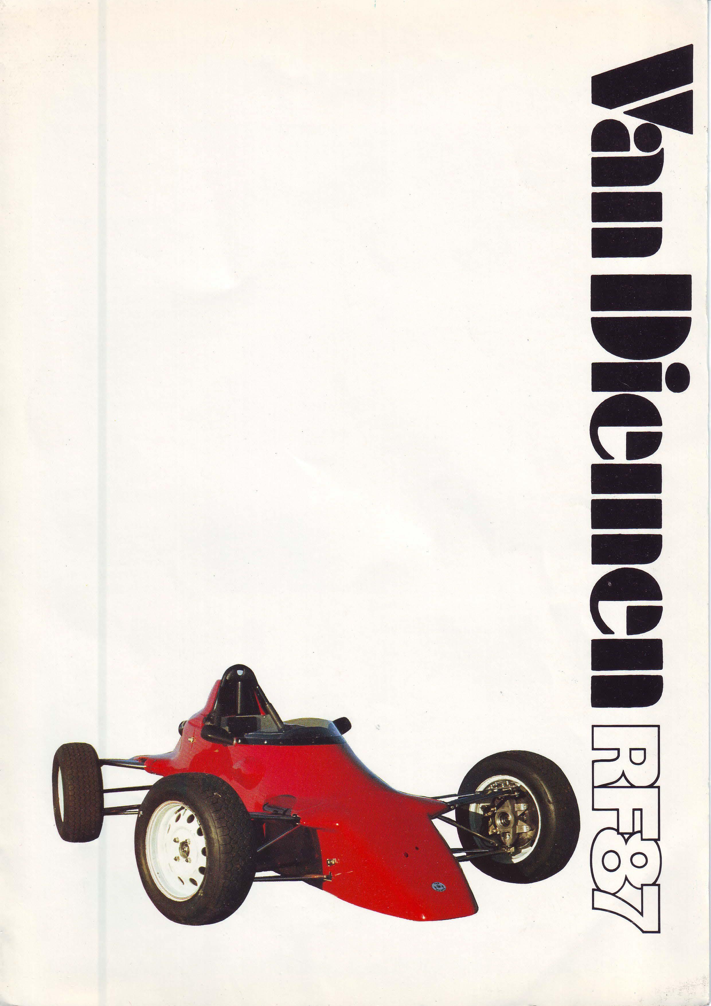 Van Diemen RF87 Brochure Page 1
